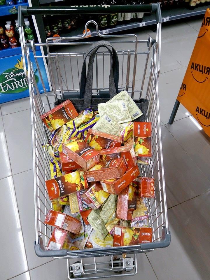 """Передача продуктов заложникам в """"ДНР"""""""